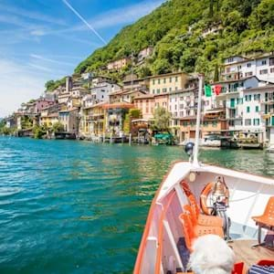 Lake Lugano from boat
