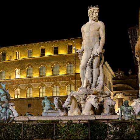 Fountain of Neptune Piazza Signoria Florence by Night