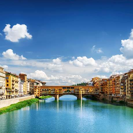 Ponte Vecchio along the Arno in Florence, Italy