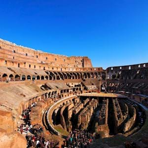 Interior Colosseum on sunny day