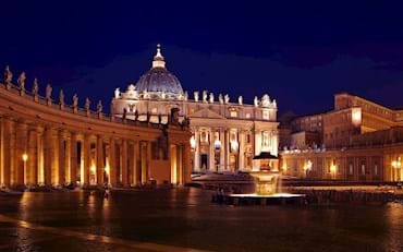St Peters by night