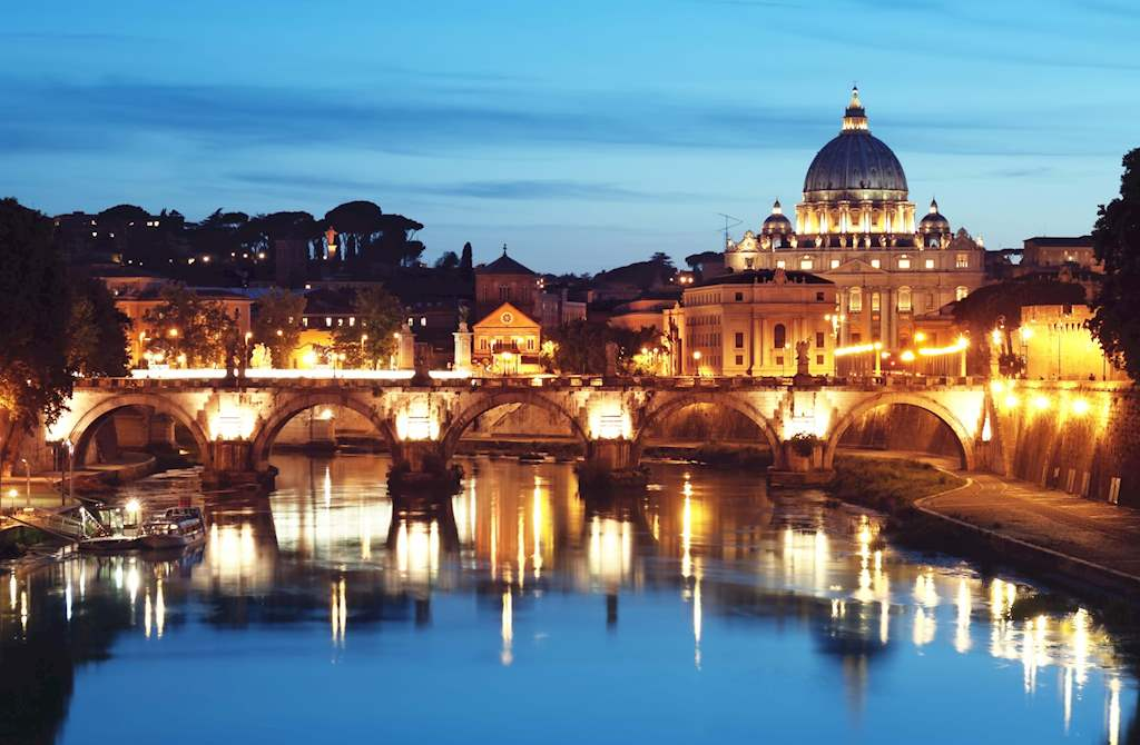 St Peter and Tevere evening