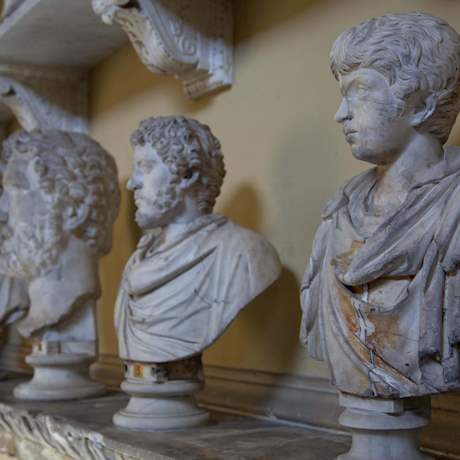 Statues in gallery Vatican Museums