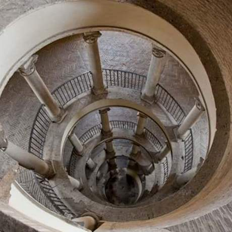 Bramante Staircase from top