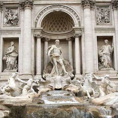 Trevi Fountain close up