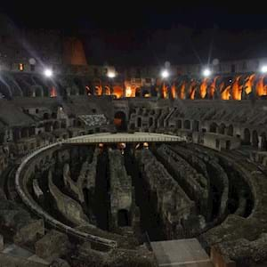 Interior of the Colosseum by Night