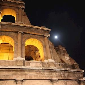 Details of the Colosseum by Night