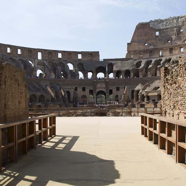 Arena floor of the Colosseum