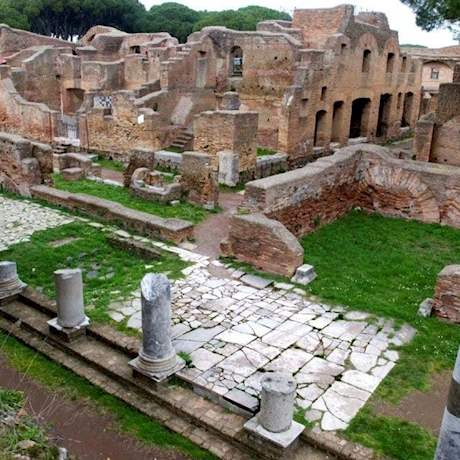 Ostia Antica Houses and Ruins