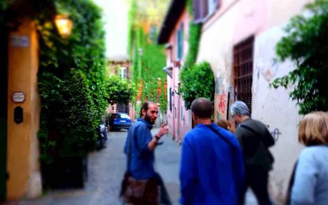 Street Scene From Trastevere Stroll