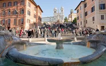 Barcaccia and Spanish Steps