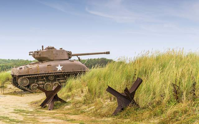 Tank in Normandy  Beach