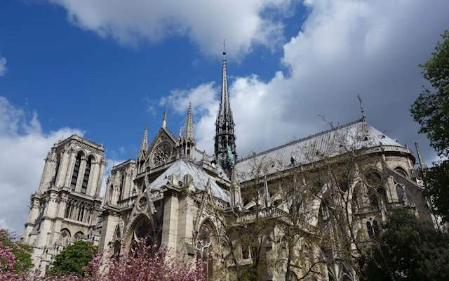 notre dame with spire