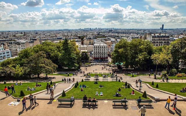 paris view from montmartre
