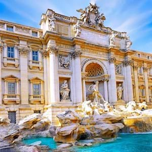Trevi Fountain Angle Side View