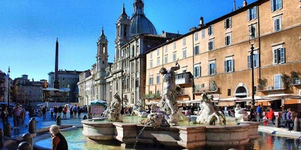 Piazza Navona Fountain by Day