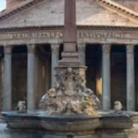 Pantheon Front View in a sunny day