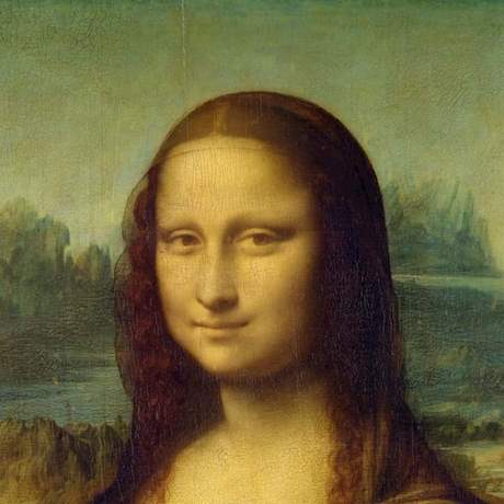 Mona Lisa Painting Close up