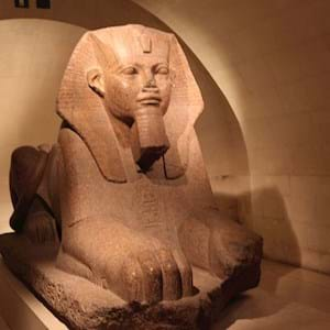 egyptian sculpture front view