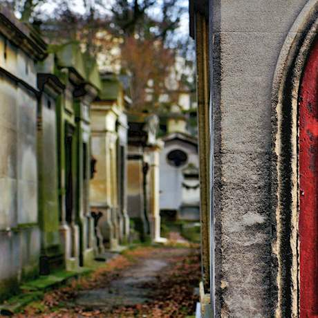 Red Door of Pere Lachaise