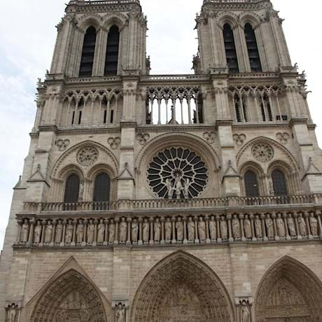 Notre Dame Front View Facade