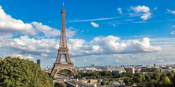 Panoramic View of Eiffel Tower by Day
