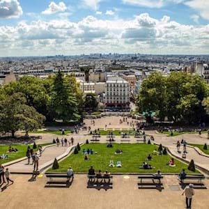 panoramic view from Montmartre by day