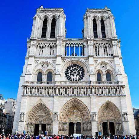 Notre Dame Facade Front View