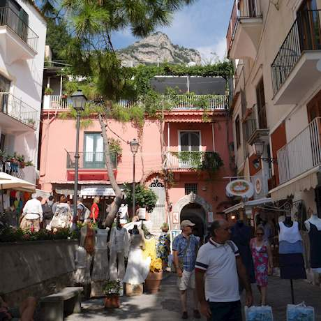 Positano Streets with People by Day