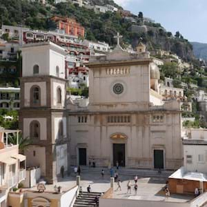 Positano Church in a sunny day