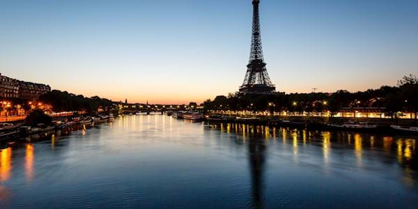 Eiffel Tower Panoramic View Evening
