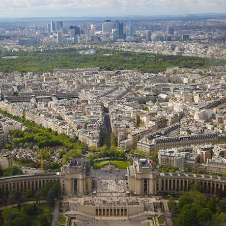 General View of Paris from Eiffel Tower