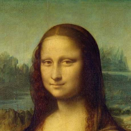 Mona Lisa close up Portrait