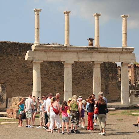 Forum Gate with Tourists