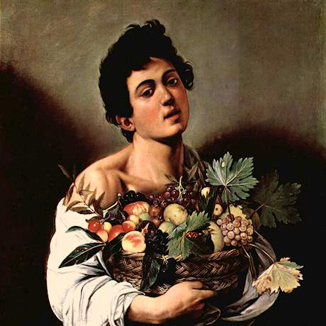 Boy with Fruit Basket's Caravaggio Painting
