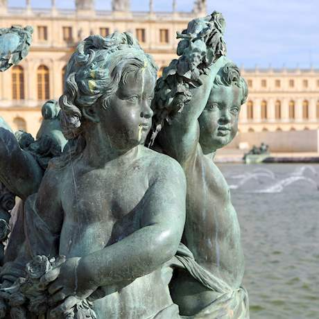 Sculpture Details of Versailles Palace