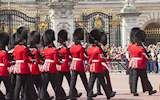 queens footguard marching in