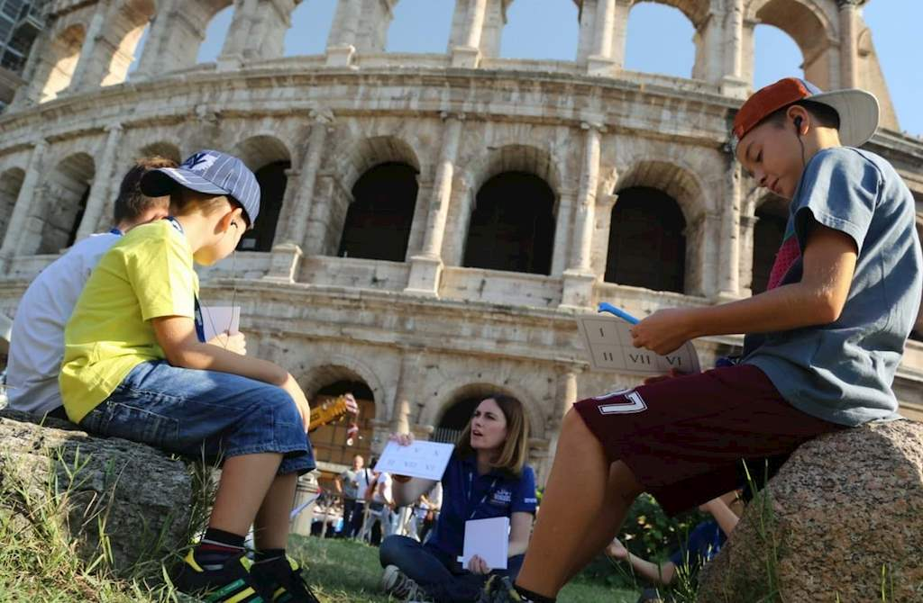 Kids on the Colosseum