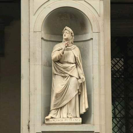 Francesco Petrarca's Statue in Uffizi Gallery