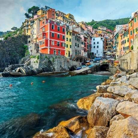 Riomaggiore Sea and Houses View