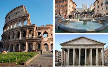 Colosseum, Pantheon and Spanish Steps