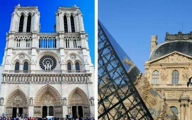 Notre Dame and Louvre Museum