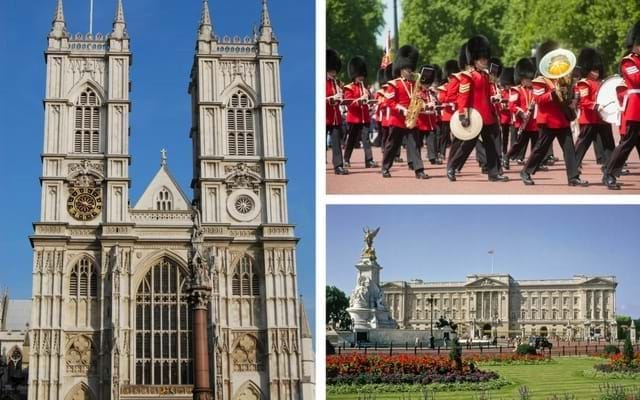 Westminster Abbey, Changing of the Guard and Buckingham Palace