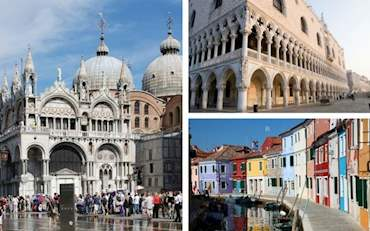 Grand Canal, St. Mark's Basilica and Doge's Palace