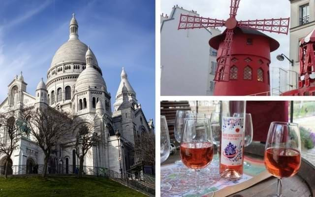 Sacre Coeur and Moulin Rouge with Wine Tasting