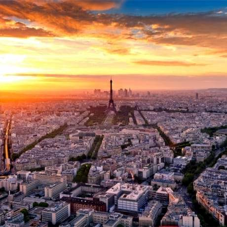 Paris View Sunset