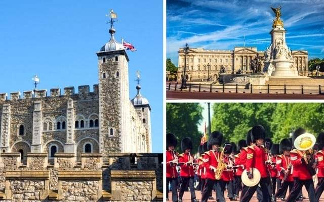 Tower London and Buckingham