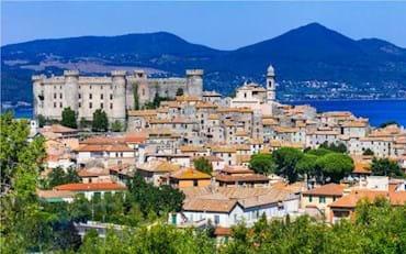 panorama with bracciano castle