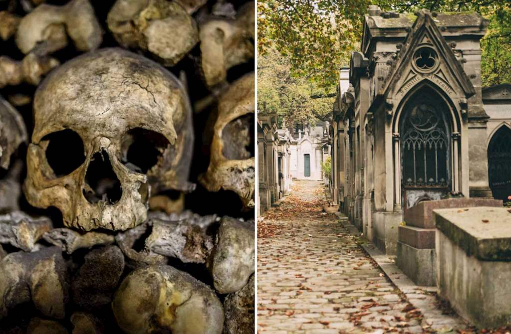 paris catacombs pere lachaise combo