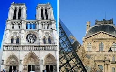 Notre Dame and Louvre Towers